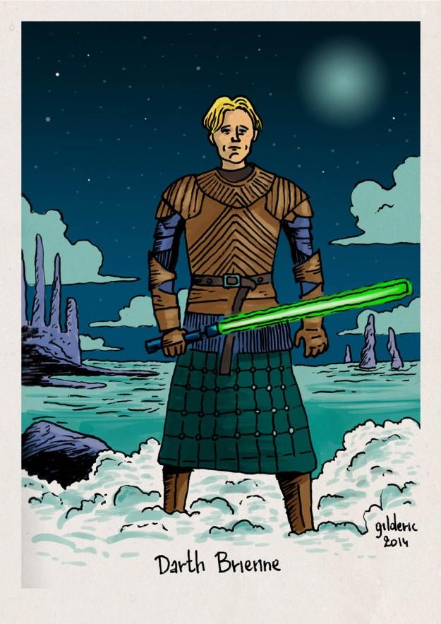 Star Wars vs Game of Thrones : Jedi Brienne - Dessin de Gilderic