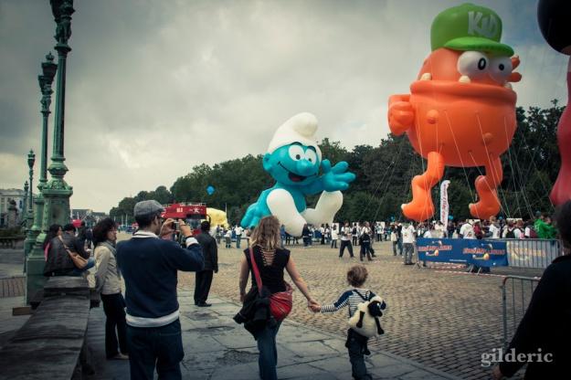 Schtroumpf géant (Balloon's Day Parade, Bruxelles) - Photo : Gilderic