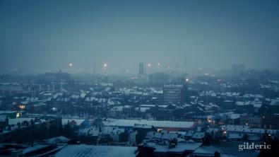 Il neige sur Liège