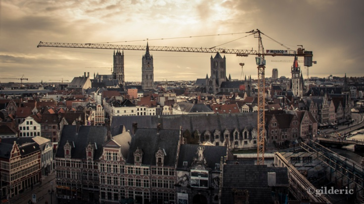 Gand et la grue - Photo : Gilderic