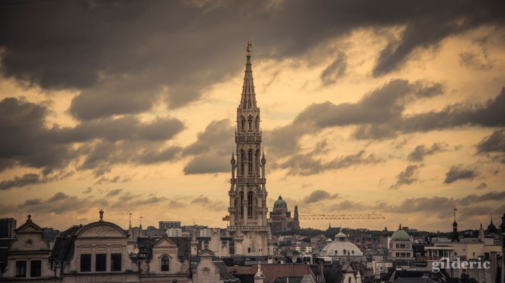 Bruxelles depuis le Mont des Arts - Photo : Gilderic