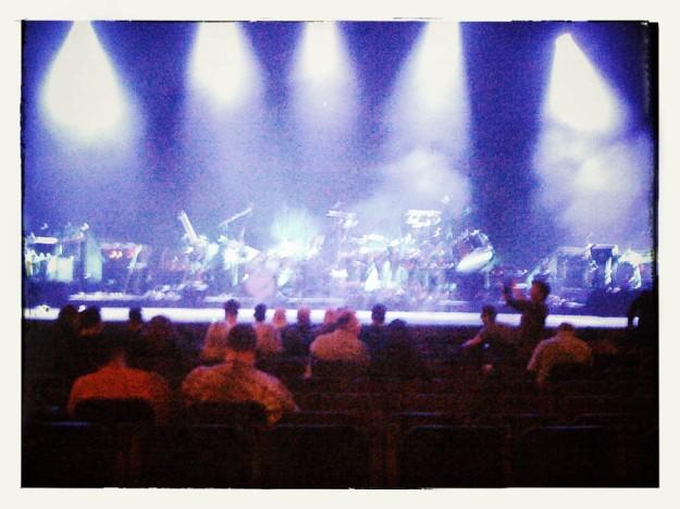 Kate Bush Before The Dawn - la scène juste avant le concert