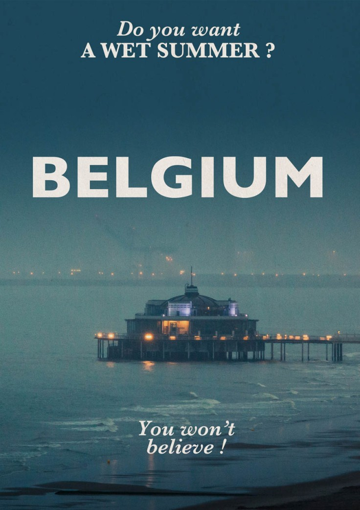 Visit Belgium (under the rain) - Photo and design : Gilderic