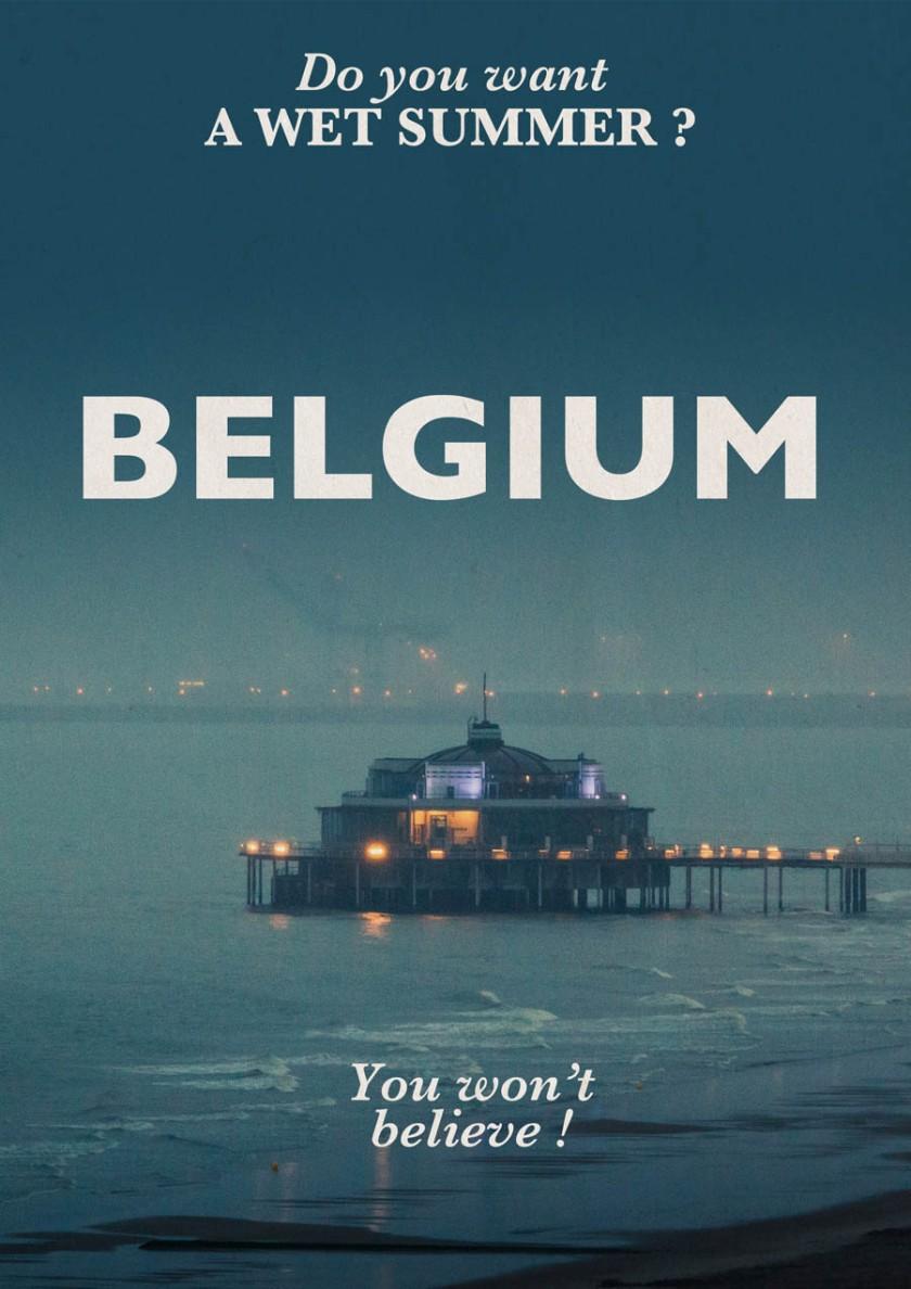 Visit Belgium (under the rain) - Photo and design : Gilderic