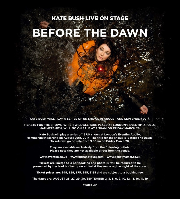 Kate Bush annonce Before The Dawn