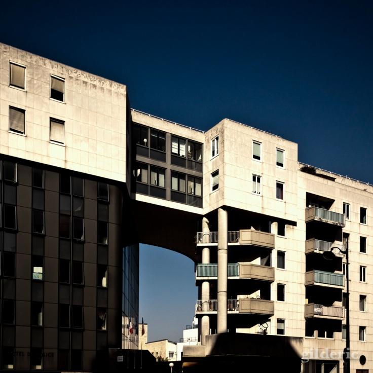 Architecture biscornue à Paris - Photo : Gilderic