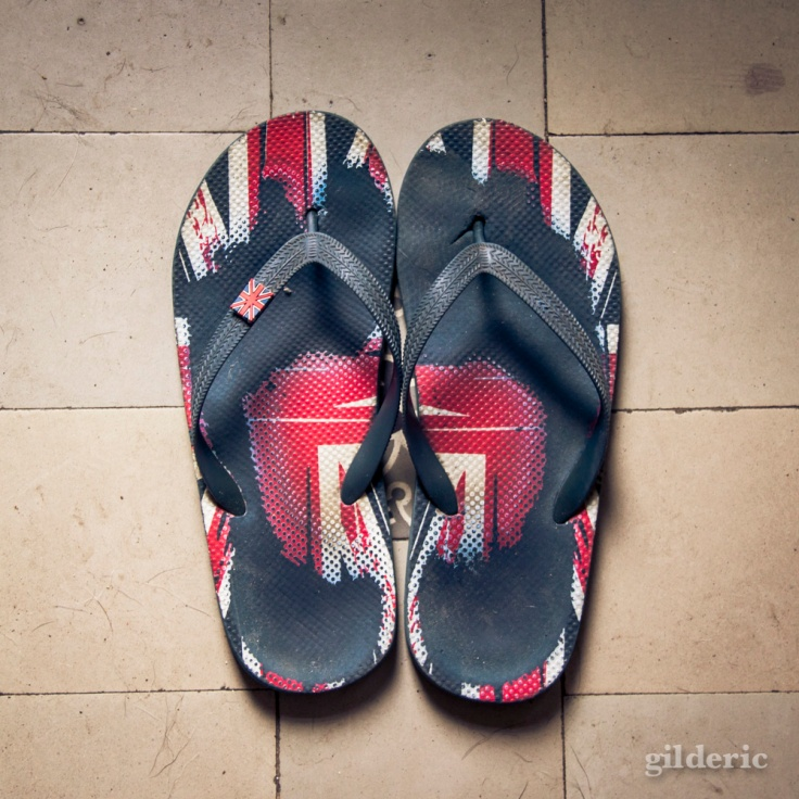 Disunion Jack flip-flop - Photo : Gilderic