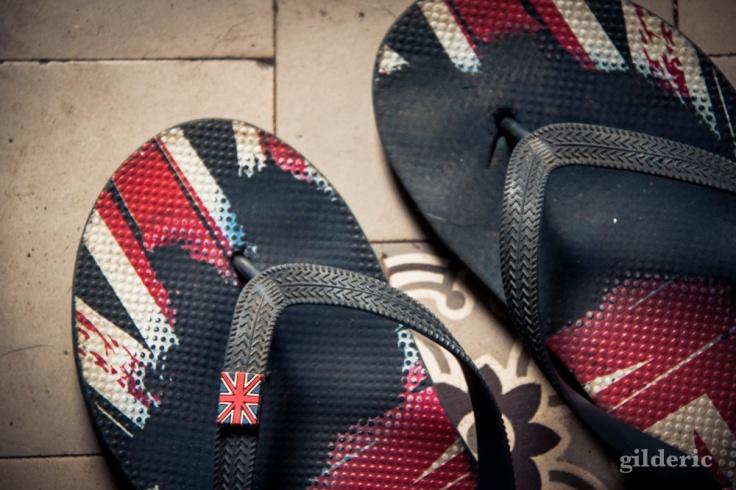 Disunion Jack flip-flop - Photo : Gilderic