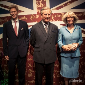 Le Prince Charles, Camilla et le Prince Harry chez Madame Tussauds