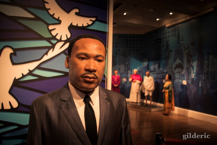 Martin Luther King che<z Madame Tussauds