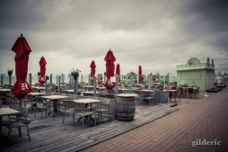 Plage de Blankenberge sous la pluie - Photo : Gilderic