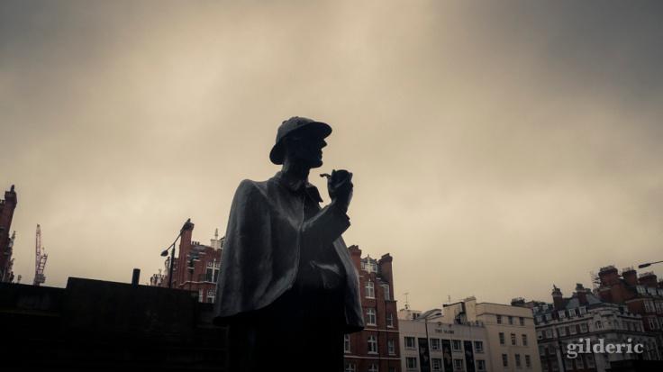 Statue de Sherlock Holmes, Baker Street (Londres) -Photo : Gilderic