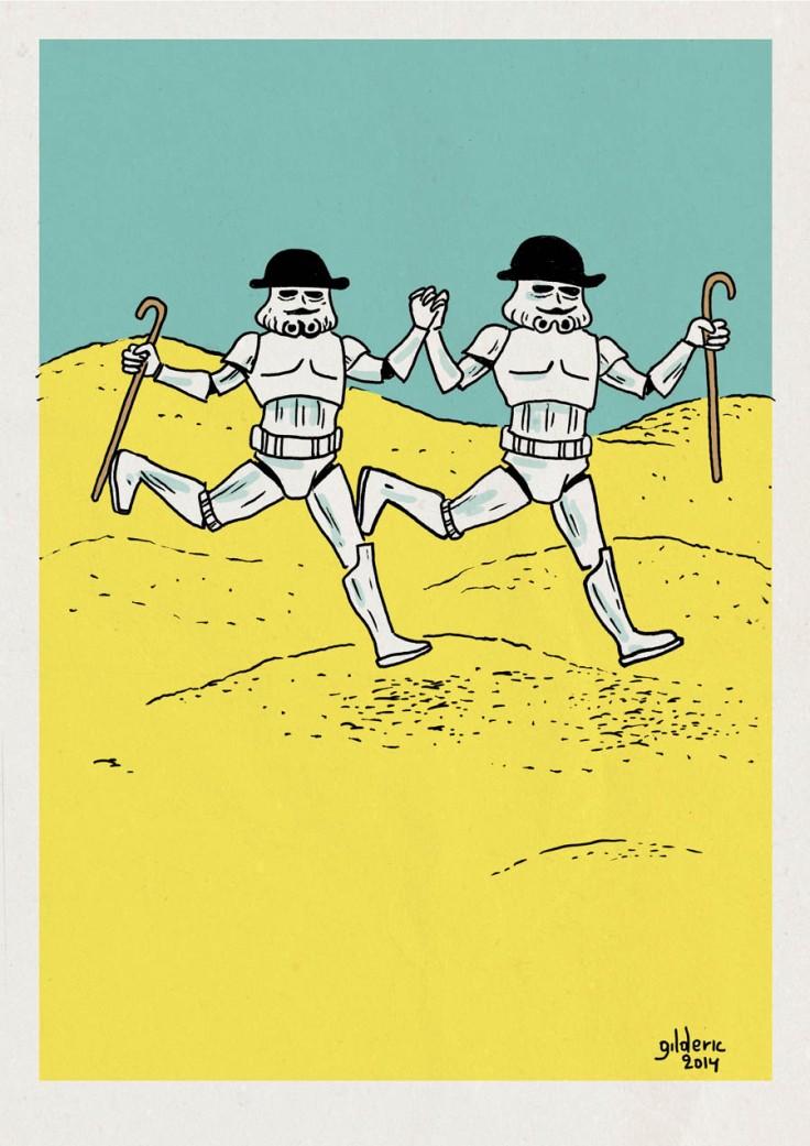 Tintin vs Star Wars : les Dupondt Stormtroopers - Dessin : Gilderic