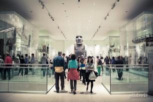 Colosse de l'Ile de Pâques (British Museum, Londres) - Photo : Gilderic