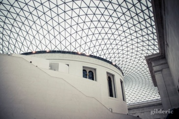 Architecture du British Museum, cour intérieure - photo : Gilderic