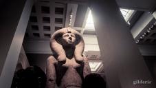 statue de pharaon égyptien, British Museum - Photo : Gilderic