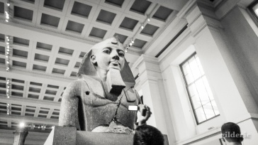 statue de pharaon égyptien, British Museum - Photo : Gilderic