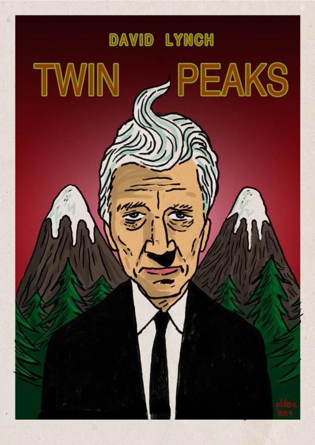 David Lynch returns to Twin Peaks (poster version) - Dessin de Gilderic