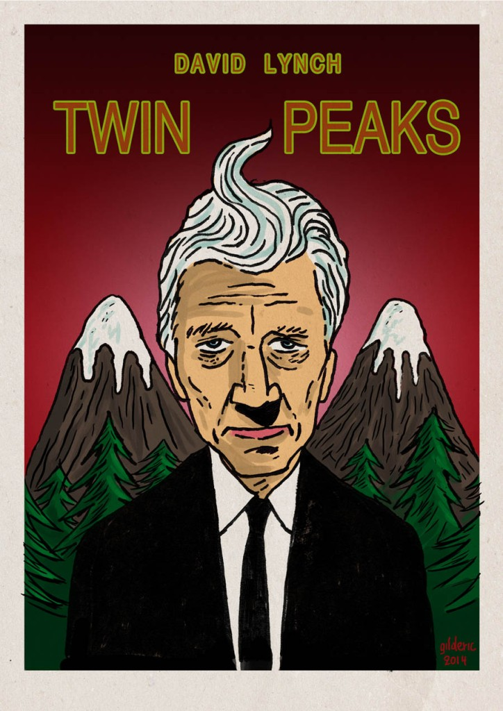 David Lynch returns to Twin Peaks (poster version) - Dessin de Gilderic
