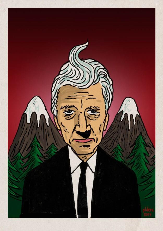 David Lynch returns to Twin Peaks  - Dessin de Gilderic