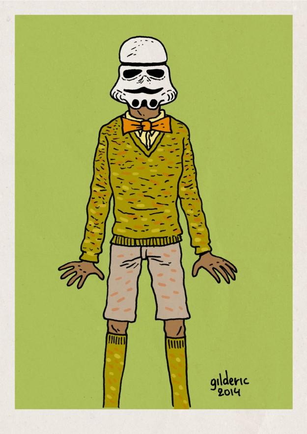 "Le ""Stromtrooper"" : Stromae + Stormtrooper - Dessin de Gilderic"
