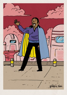Tintin Star Wars : Lando Lampion - Dessin de Gilderic