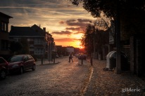 Crépuscule sur Grivegnée (Liège) - Photo : Gilderic