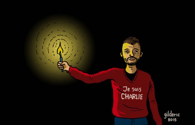 Je suis charlie - dessin de Gilderic