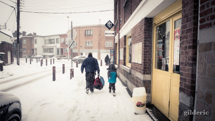 Photographier la ville sous la neige (Liège) - Photo : Gilderic
