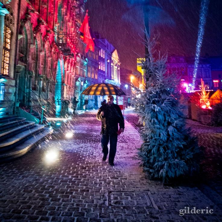 Comment photographier la ville sous la neige ? (Mons) - Photo : Gilderic