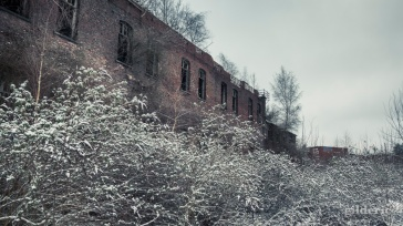 Fort de la Chartreuse (LIège, Belgique) sous la neige - photo : GIlderic