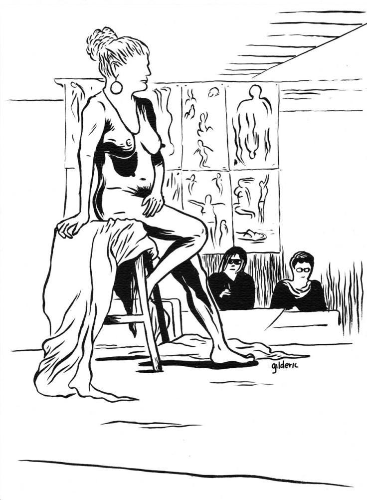 Des visages, des figures : mise à nu - Dessin de Gilderic