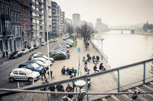 Classe de dessin - Liège - Photo : Gilderic