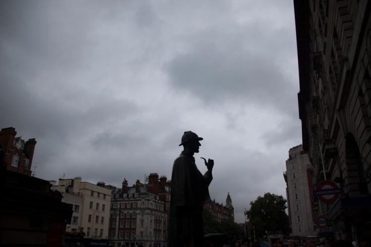 Statue de Sherlock Holmes, Baker Street, London - Photo : Gilderic