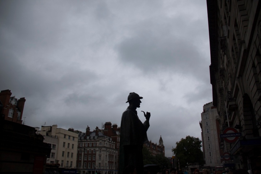 Statue de Sherlock Holmes, Baker Street, London - Photo : Gilderic