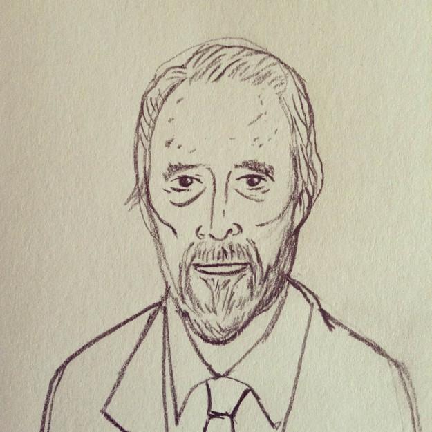 Christopher Lee (dessin au crayon  de Gilderic)