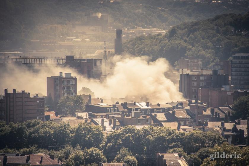 Liège brûle - Photo : Gilderic