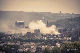Incendie sur Liège - Photo : Gilderic