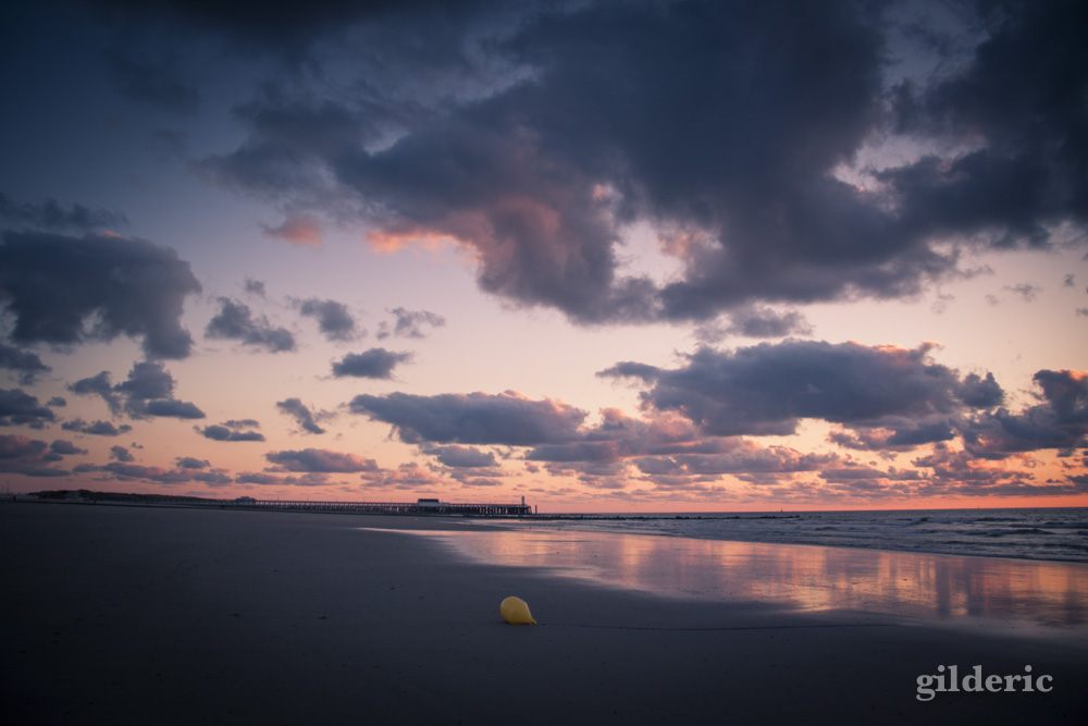 Coucher de soleil à Blankenberge - Photo : Gilderic