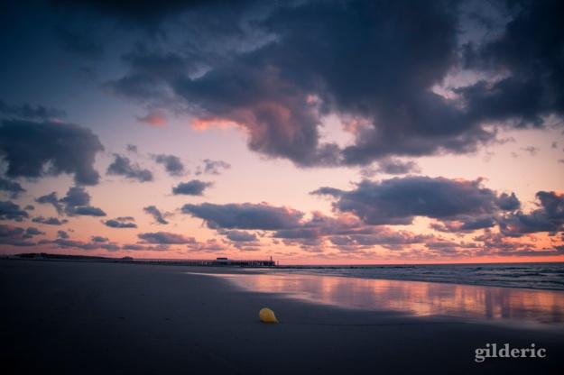 Coucher de soleil à la Côte belge (Blankenberge) - Photo : Gilderic