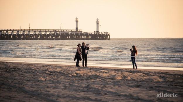 Séance photo sur la plage (de Blankenberge) - Photo : Gilderic