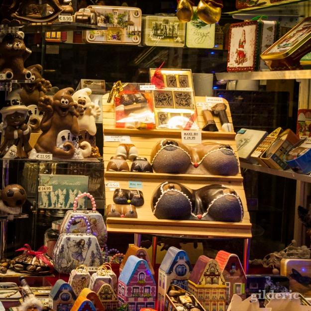 Seins en chocolat - Bruges - Belgique