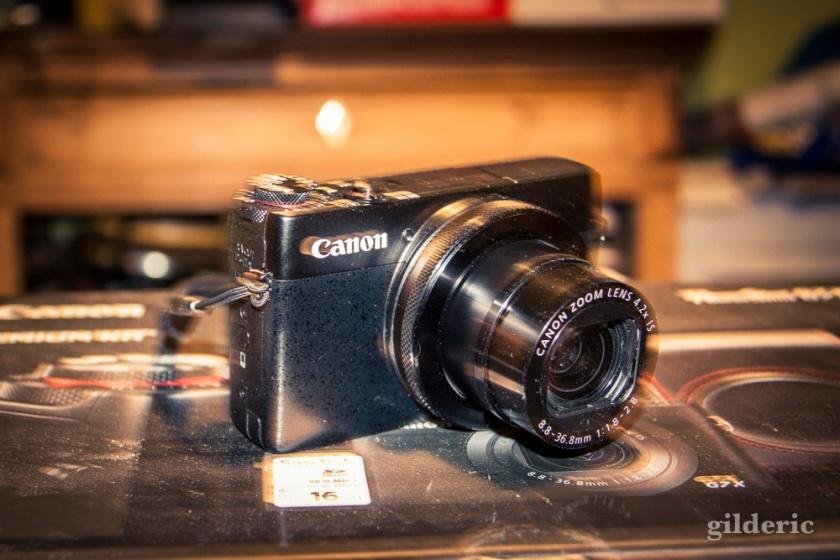 Canon Powershot G7X (objectif déployé)