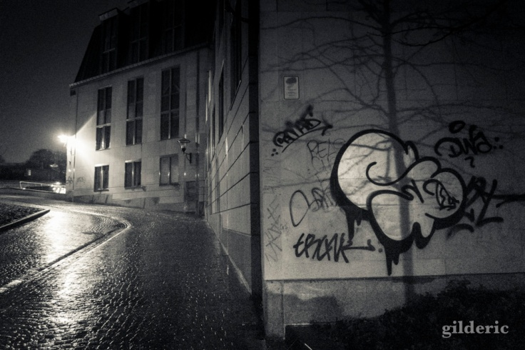 Graffiti dans la nuit (6400 ISO)