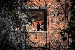 Graffeur à l'oeuvre - Fort de la Chartreuse