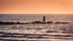 Selfie romantique au milieu des vagues (Blankenberge)
