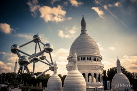 Mini-Europe (Le Sacré-Coeur et l'Atomium) à Bruxelles