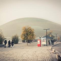 Brumeux voyage... (Liège-Guillemins dans le brouillard)