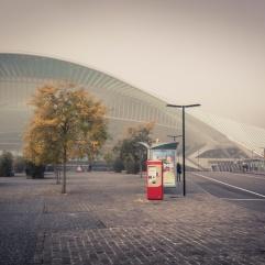 Liège-Guillemins embrumée