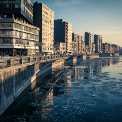 Ville glacée (Liège, Belgique)